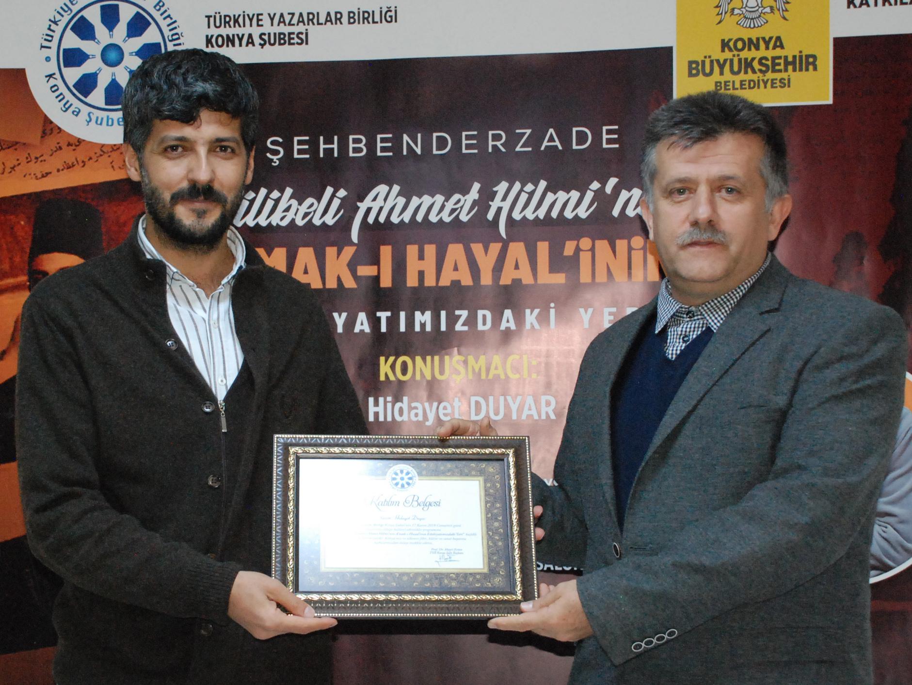 """Konya'da """"Şehbender-zade Filibeli Ahmet Hilmi"""" Anlatıldı"""