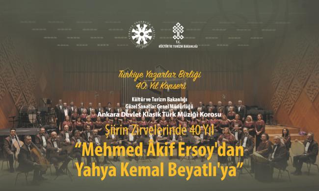 Türkiye Yazarlar Birliği 40. Yıl konseri