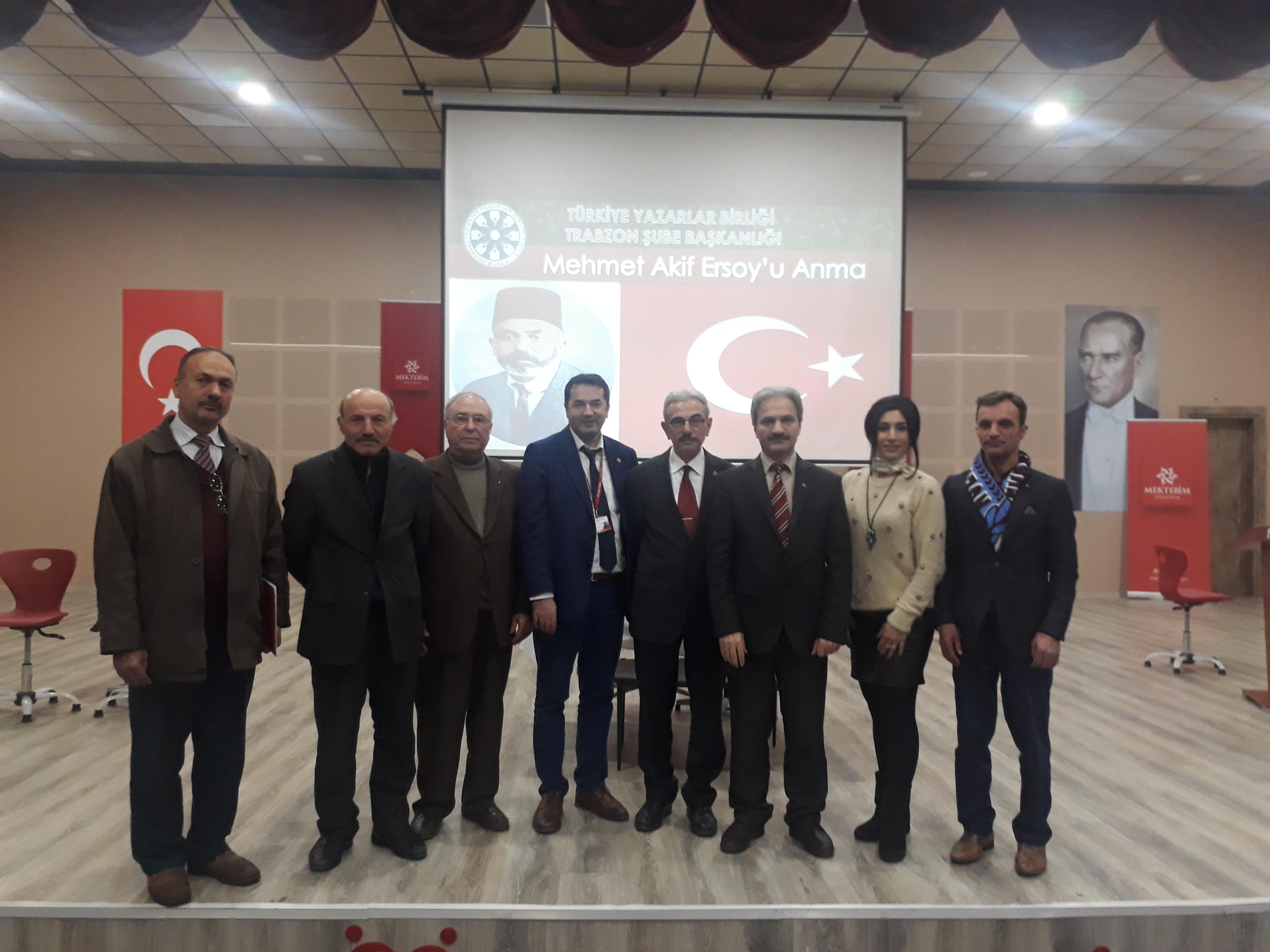 İstiklal Şairimiz Ersoy Trabzon'da anıldı