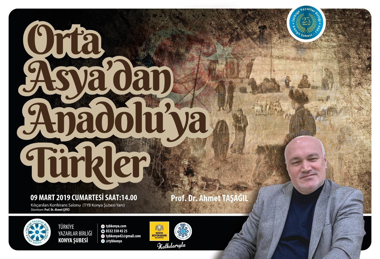 Konya Şubesinde Orta Asya'dan Anadolu'ya Türkler söyleşisi