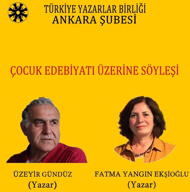 Ankara Şubesinde çocuk edebiyatı konuşulacak