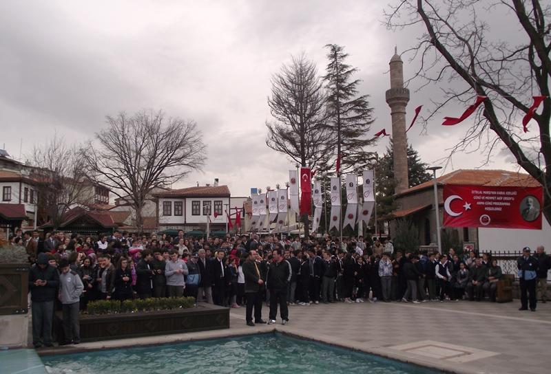 İstiklâl Marşı kabulünün 92. yılında yazıldığı yerde okundu