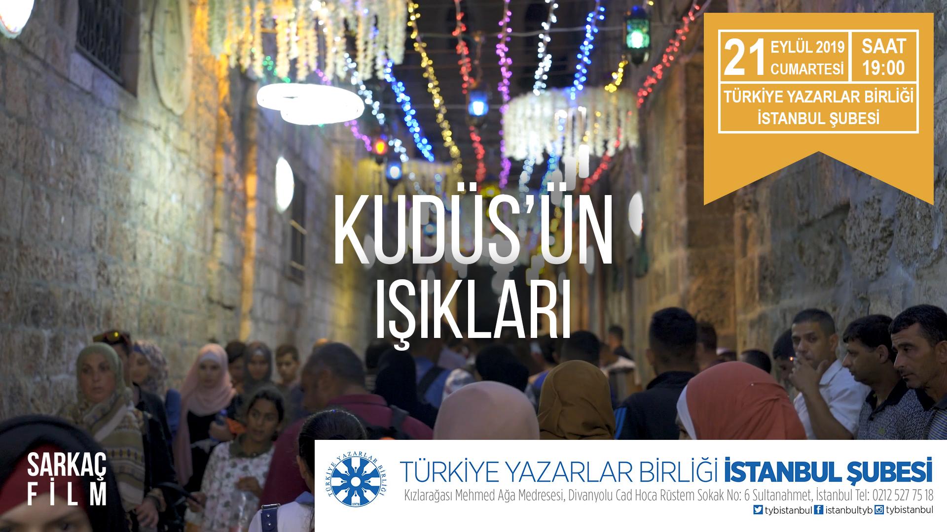 TYB İstanbul Dönem Açılışı'nı 'Kudüs'ün Işıkları'yla Yapıyor