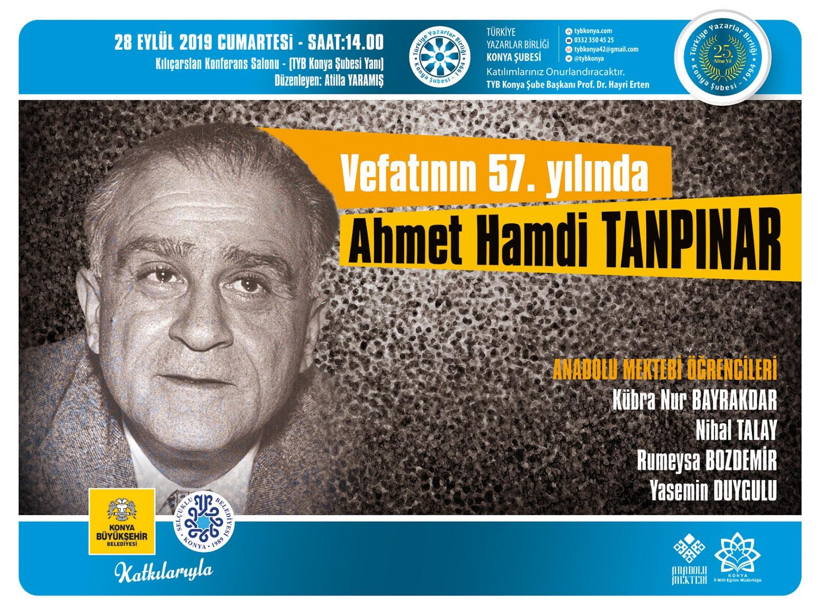 'Vefatının 57. Yılında Ahmet Hamdi TANPINAR'