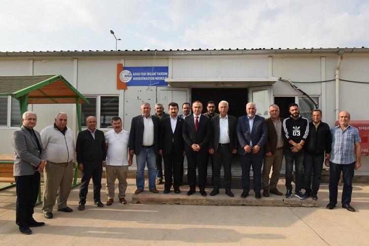 Başkan Arıcan Suriye Çobanbey' de incelemelerde bulundu