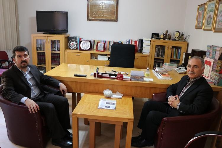 Mehmet Akif İnan Vakfı Başkanı Özer, TYB Genel Başkanı Arıcan'ı ziyaret etti