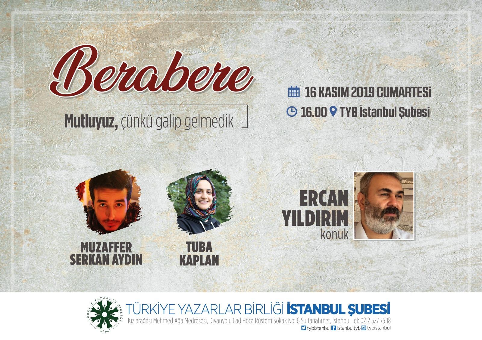 Ercan Yıldırım TYB İstanbul Şubesinde Konuşacak
