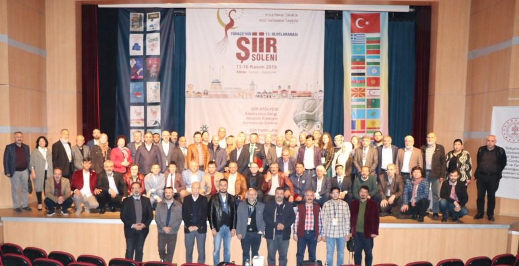 Türkçenin 13. Uluslararası Şiir Şöleni Edirne'de Yapıldı