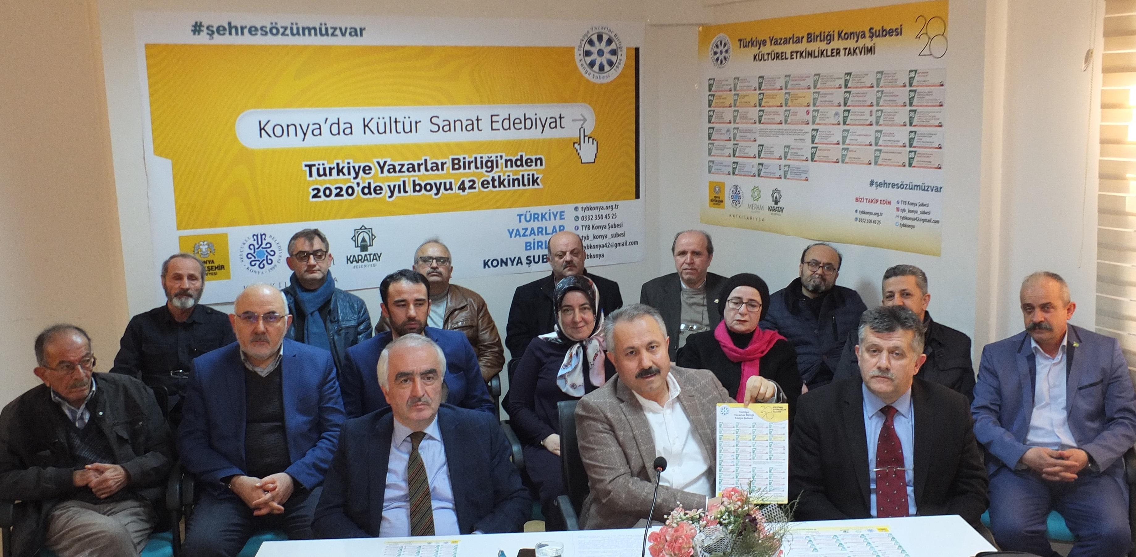 Konya Şubesi 2020 Yılı Kültürel Etkinlikler Takvimini Açıkladı