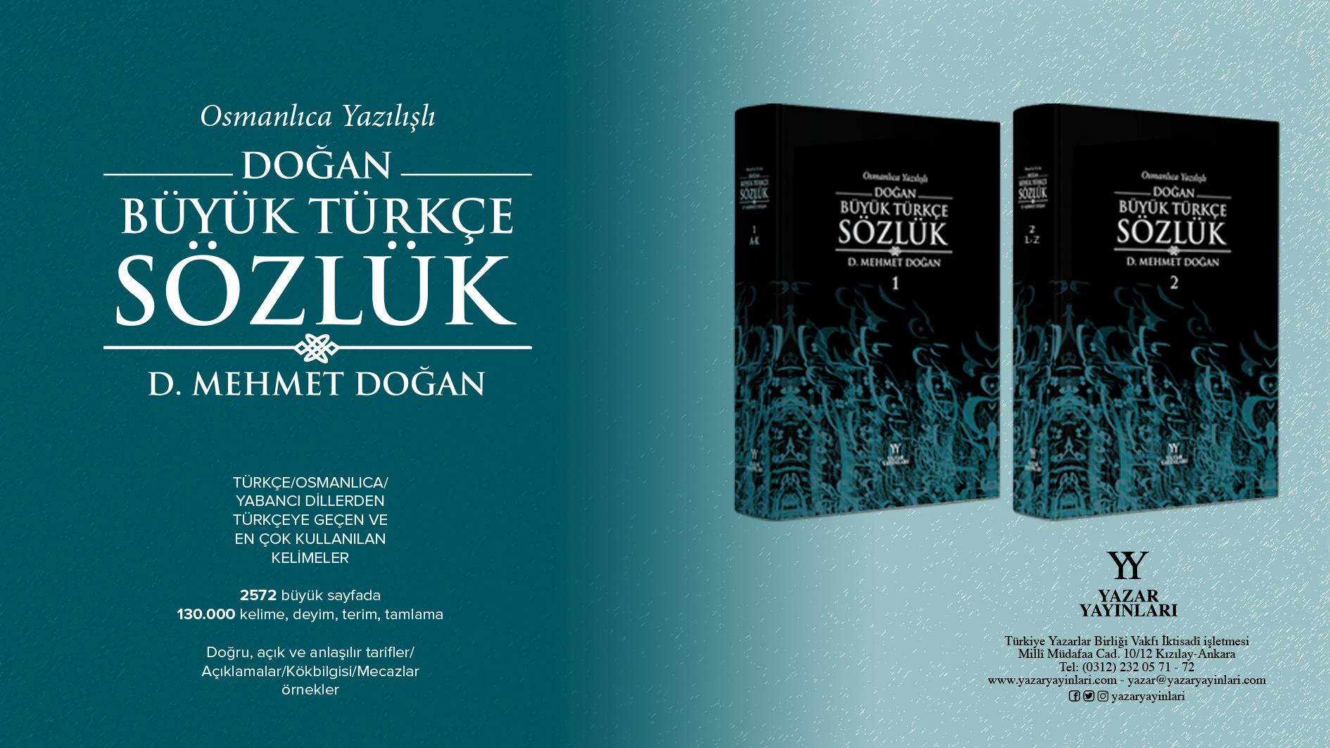 Osmanlıca Yazılışlı Doğan Büyük Türkçe Sözlük yayınlandı!