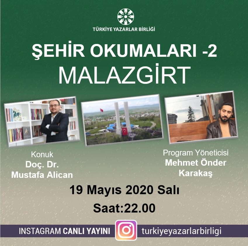 """Doç. Dr. Mustafa Alican """"Şehir Okumaları""""na konuk olacak"""