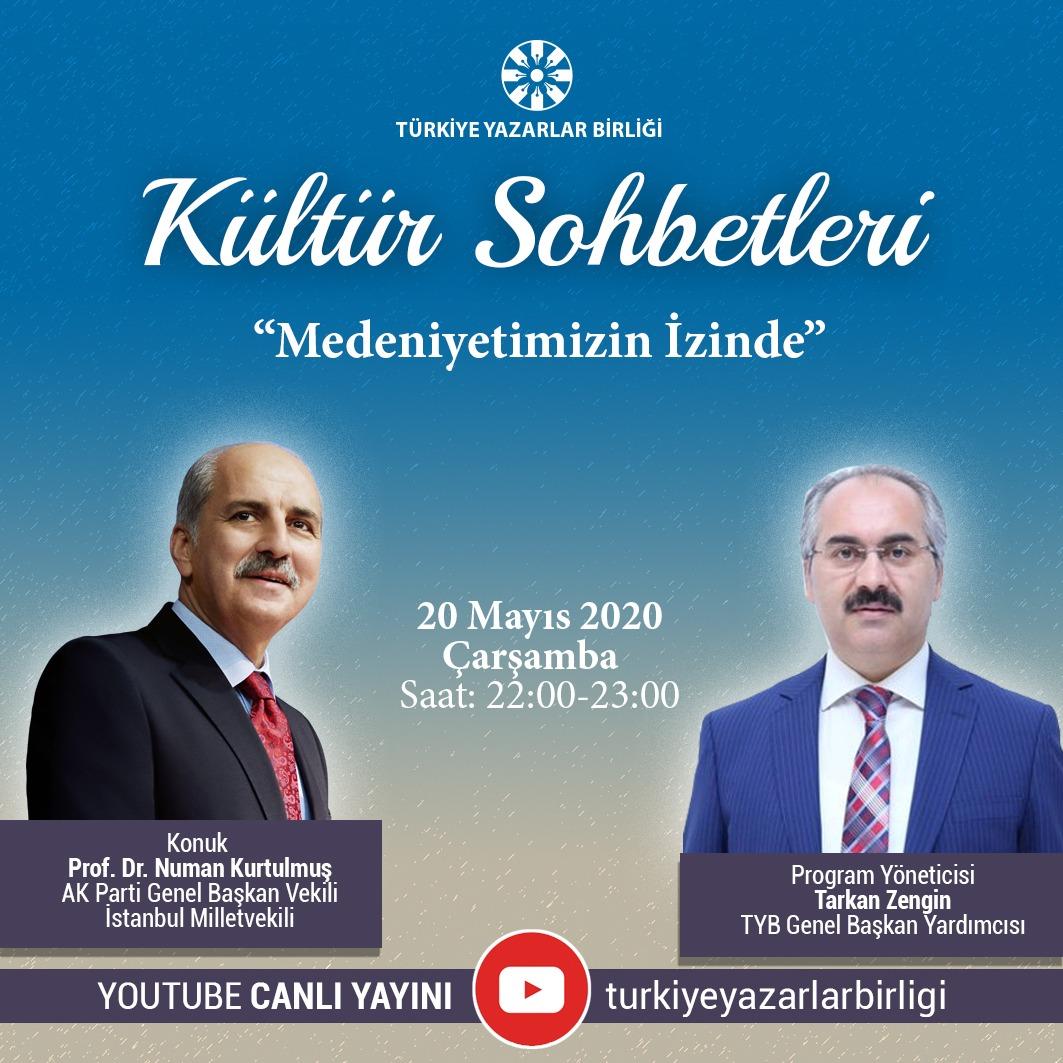 """AK Parti Genel Başkan Vekili Kurtulmuş, """"Kültür Sohbetleri""""ne Konuk Olacak"""