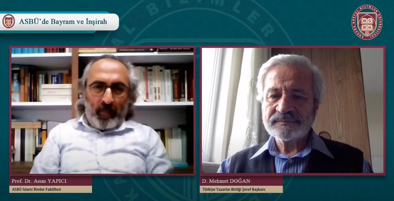 """D. Mehmet Doğan """"Bayram ve İnşirah"""" programında konuşacak"""