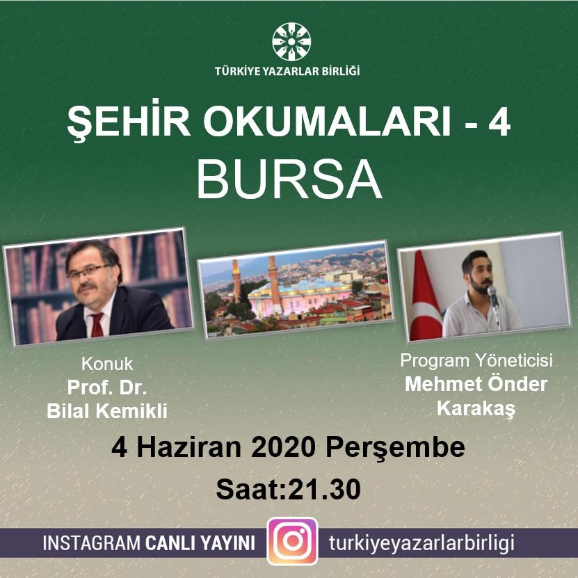 """Prof. Dr. Bilal Kemikli """"Şehir Okumaları""""na konuk olacak"""