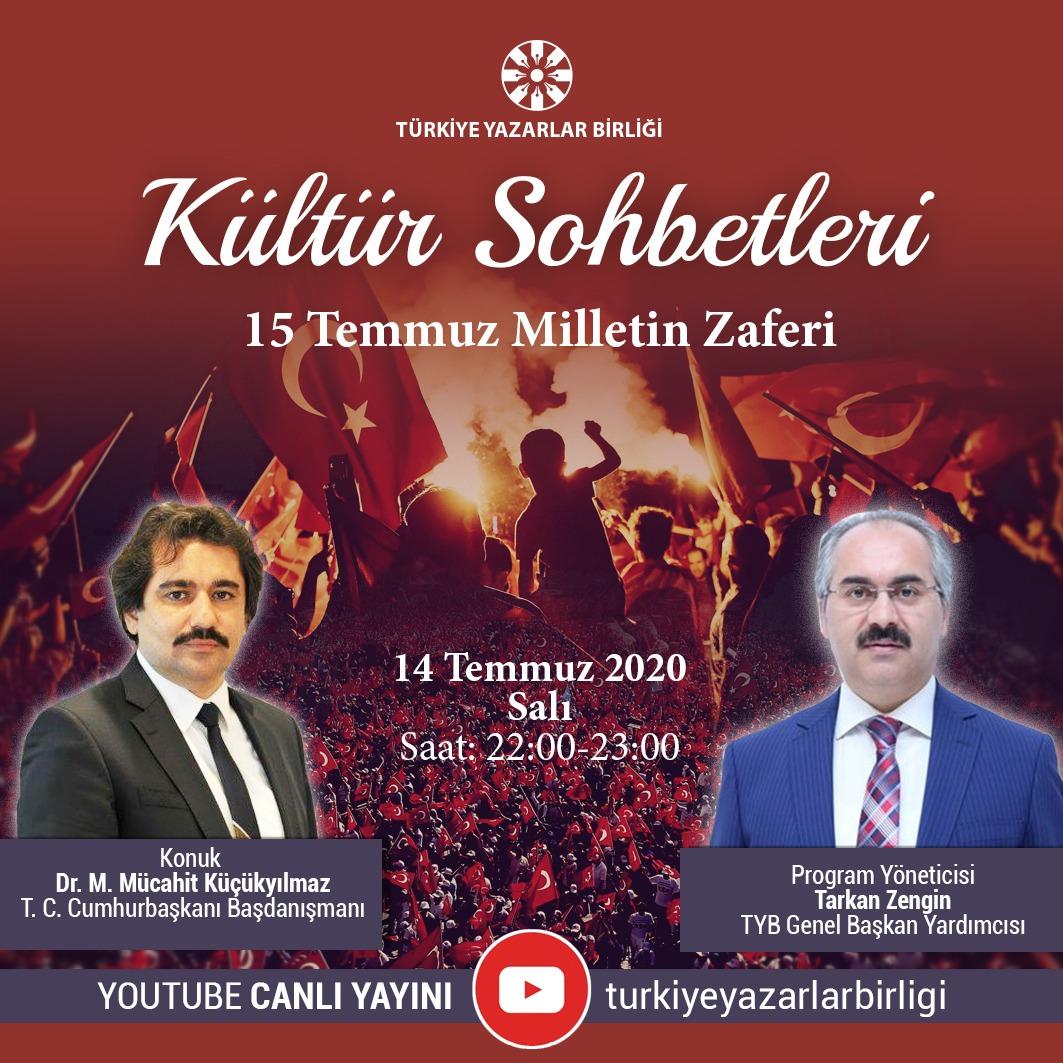"""Dr. M. Mücahit Küçükyılmaz """"Kültür Sohbetleri""""ne Konuk Olacak"""