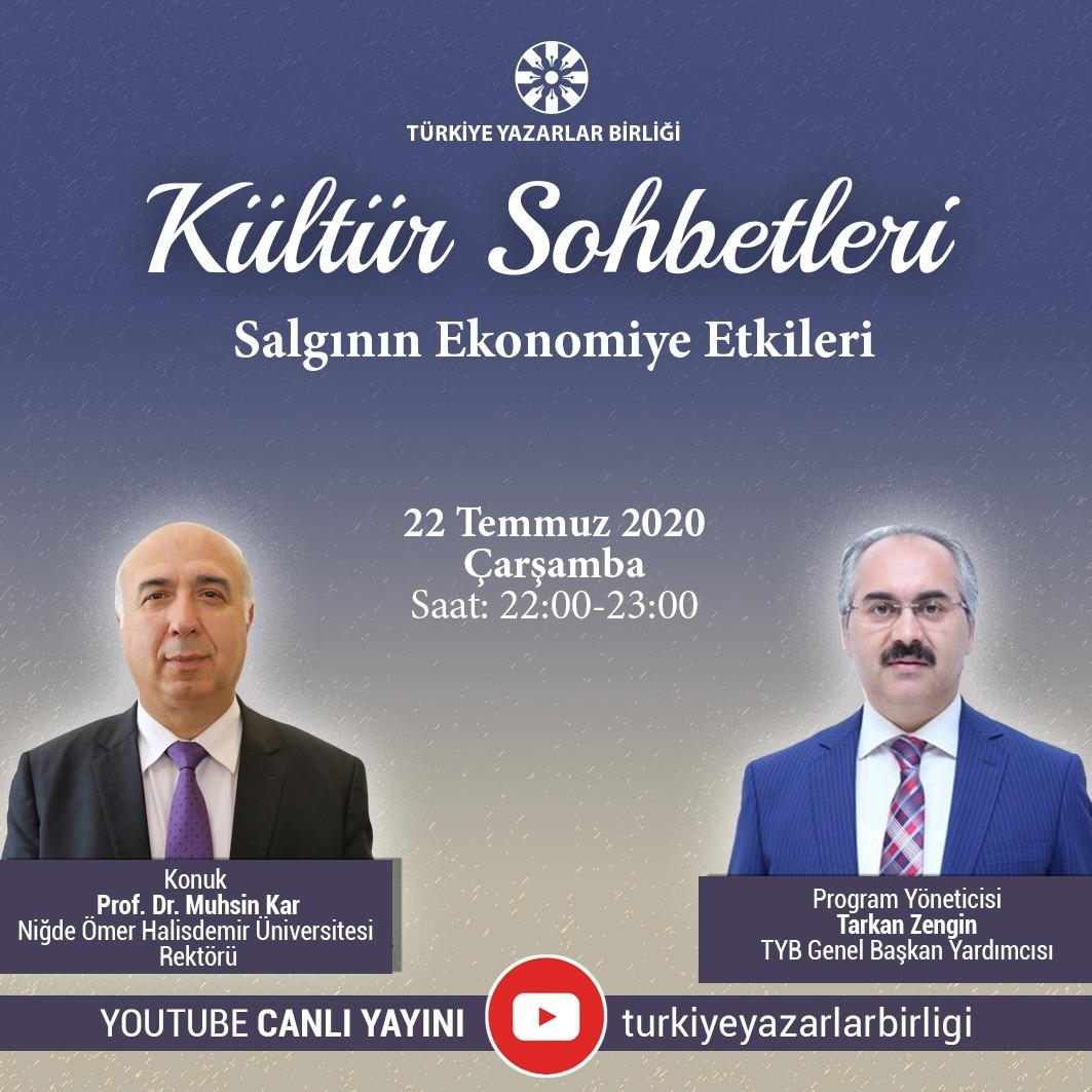 """Prof. Dr. Muhsin Kar """"Kültür Sohbetleri""""ne Konuk Olacak"""