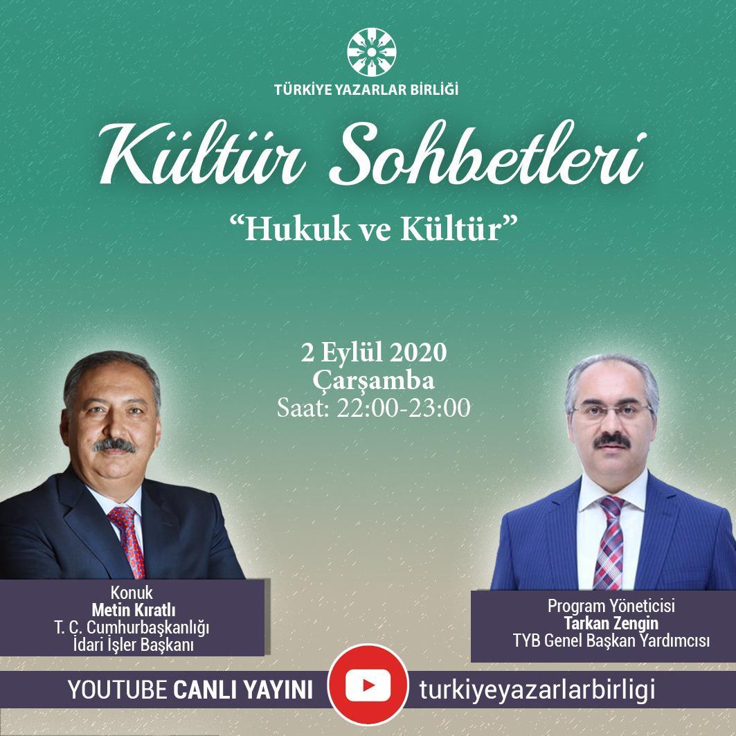 """Metin Kıratlı """"Kültür Sohbetleri""""ne Konuk Olacak"""