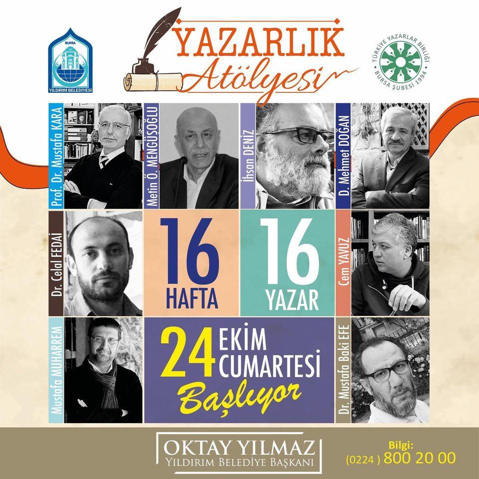 Bursa'da Yazarlık Atölyesi Başlıyor