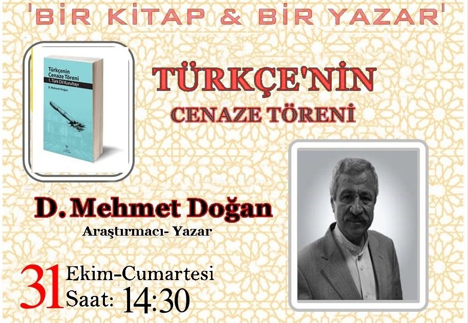 D. Mehmet Doğan Server Vakfı'nda Konuşacak