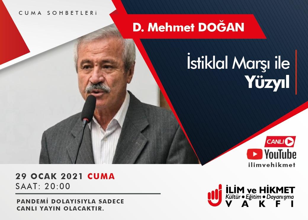 D. Mehmet Doğan, İlim ve Hikmet Vakfında Konuşacak