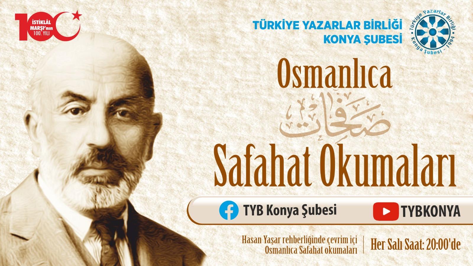 Konya Şubesinde Osmanlıca Safahat Okumaları Başlıyor