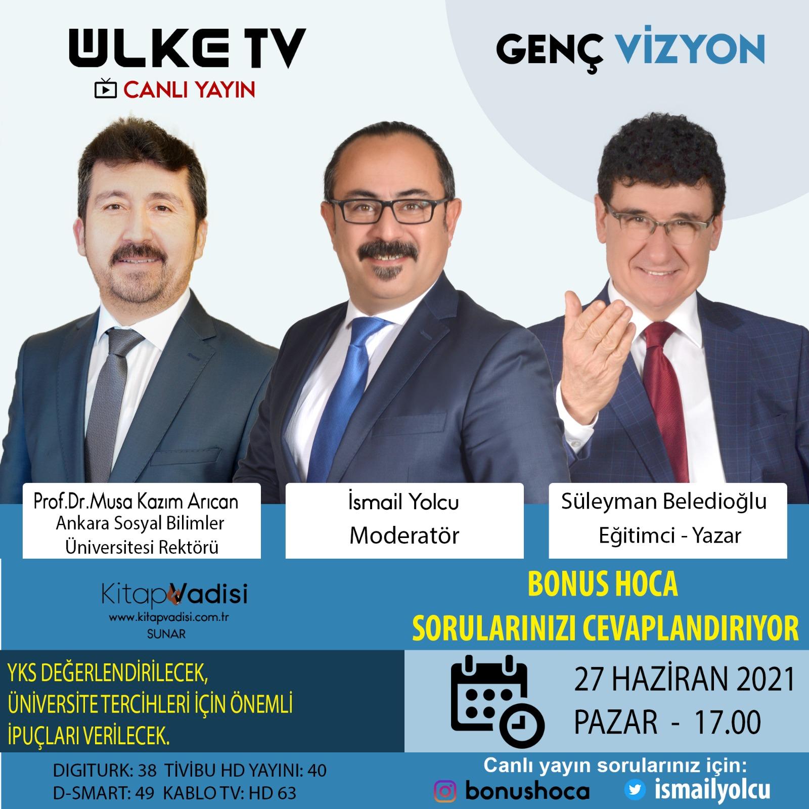 Genel Başkan Arıcan, Ülke TV'de Konuşacak