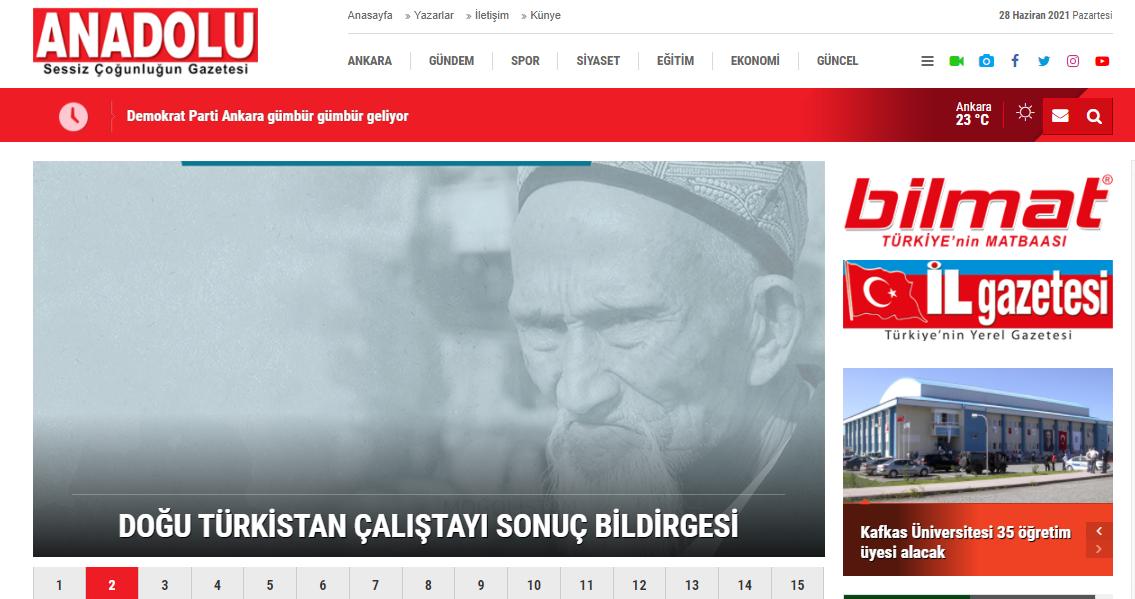 Doğu Türkistan Çalıştayı Sonuç Bildirgesi