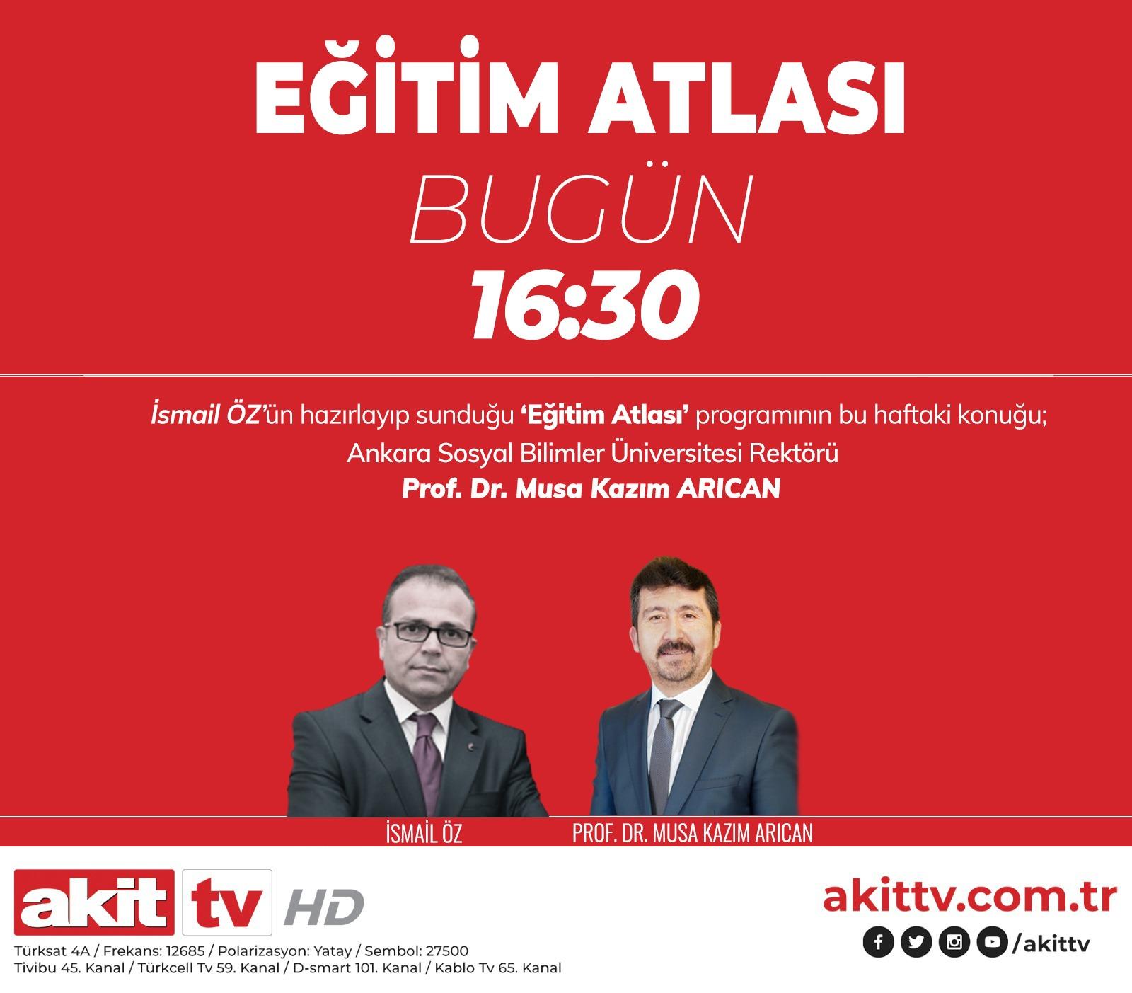 Başkan Arıcan Akit TV'de konuşacak