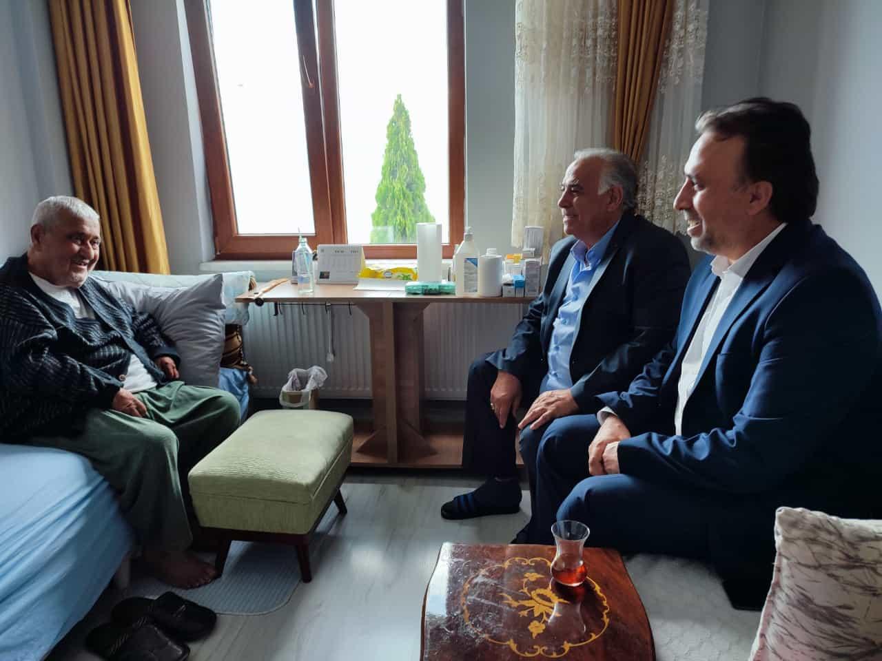 Mustafa Yazgan'a Geçmiş Olsun Ziyareti