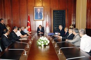 TBMM Başkanı Mehmet Ali Şahin Türkiye Yazarlar Birliği Heyetini Kabul Etti