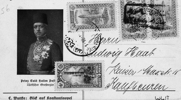 Âkif'in el yazısıyla Said Halim Paşa'dan bir risale