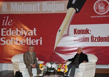 """Kümbet'te """"D. Mehmet Doğan'la Edebiyat Sohbetleri"""" Başladı"""