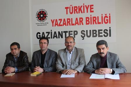 Türkiye Yazarlar Birliği (TYB) Gaziantep Şubesi'nden bir etkinlik daha!