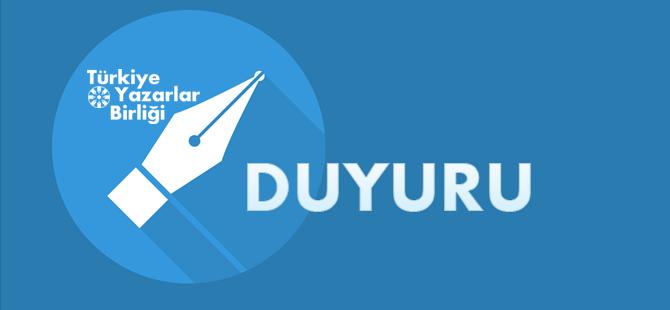 Türkiye Yazarlar Birliği 20. Olağan Genel Kurul Duyurusu