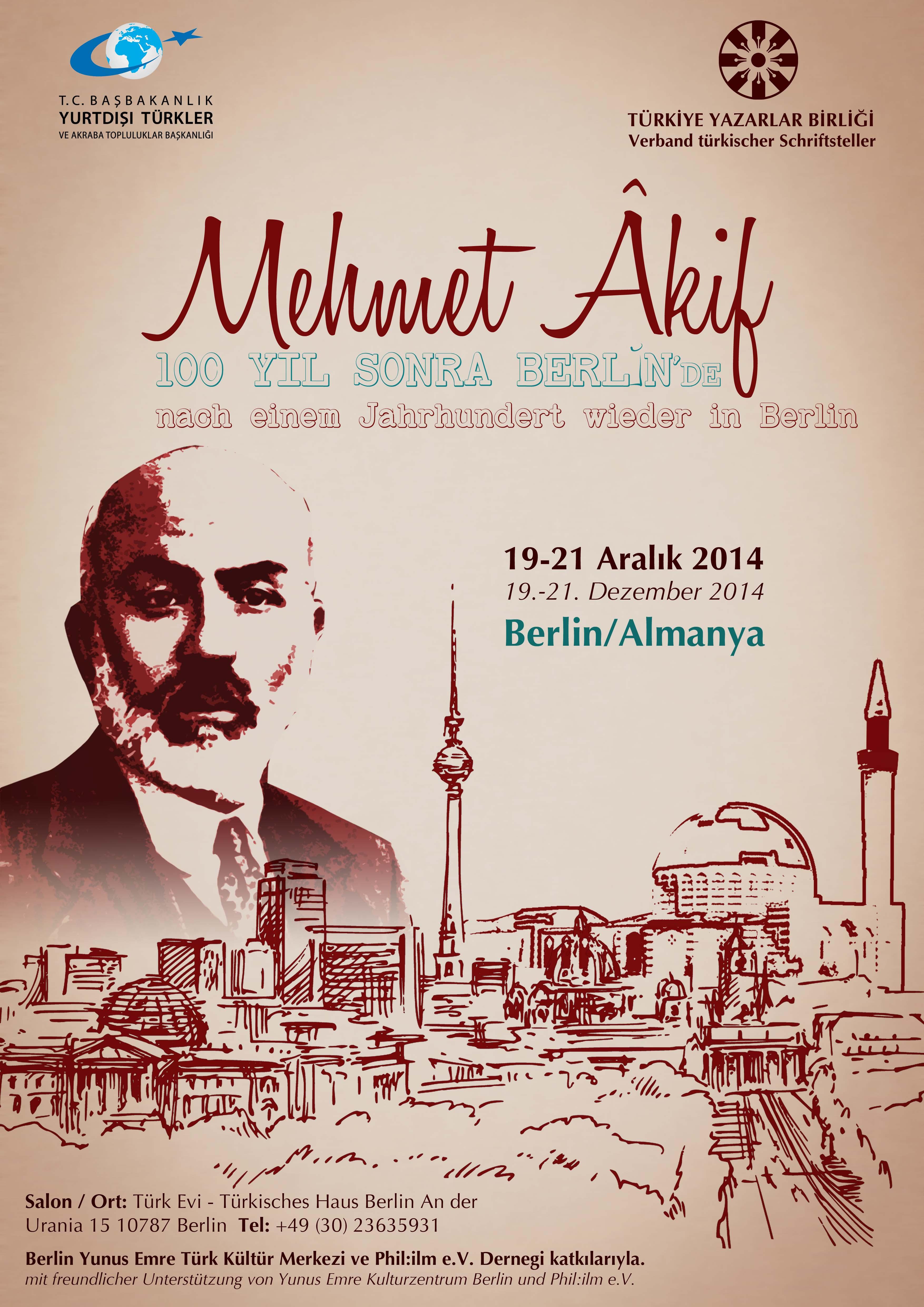 Mehmet Âkif 100 yıl sonra Berlin'de!