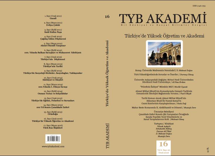 TYB Akademi 16: Türkiye'de Yüksek Öğretim ve Akademi