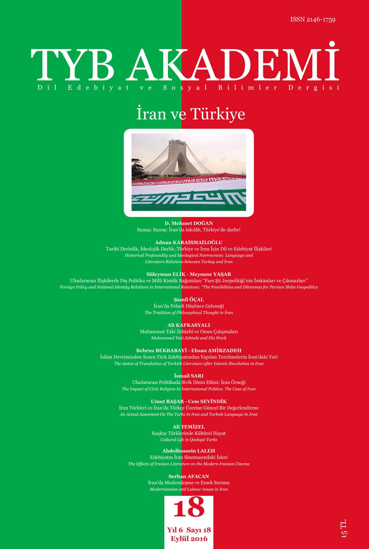 TYB Akademi 18: 'İran ve Türkiye'