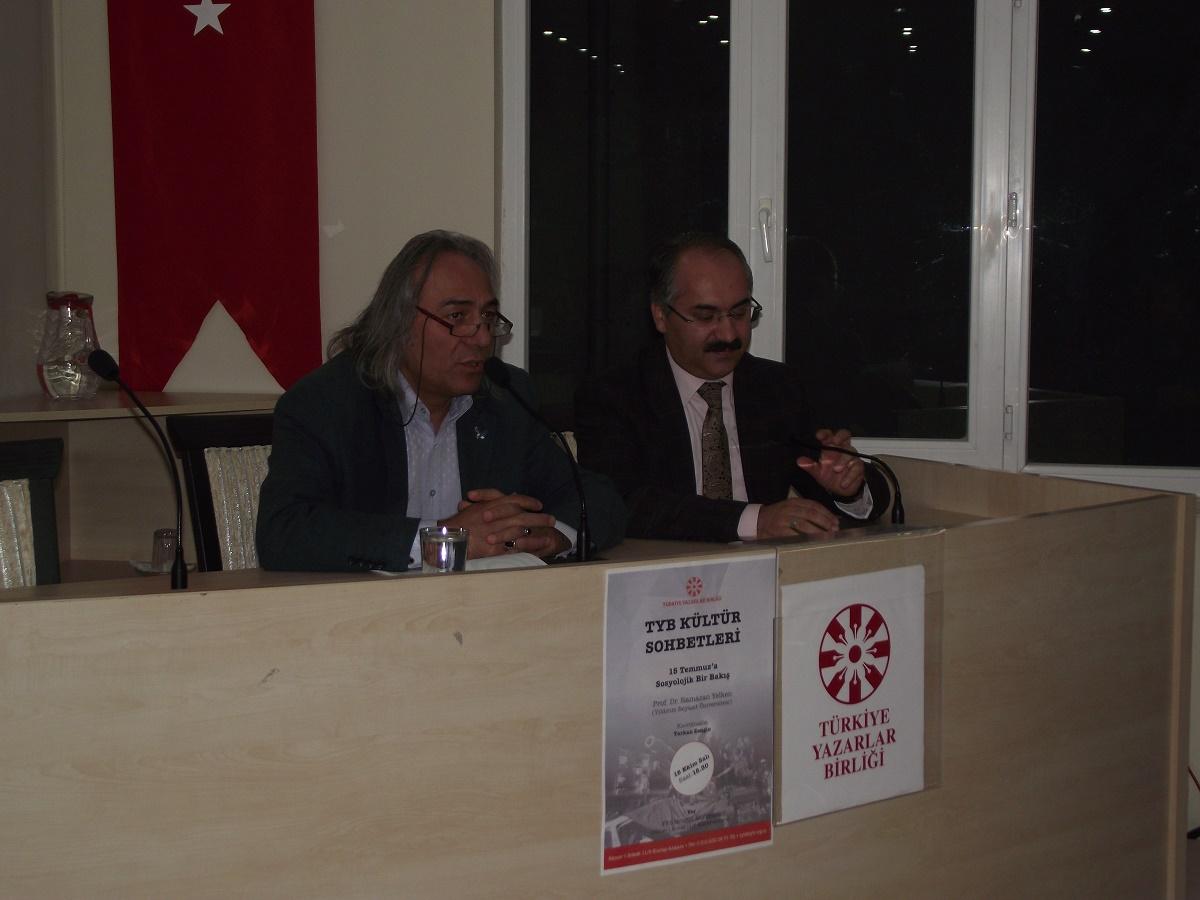 TYB Kültür Sohbetleri Prof. Dr. Ramazan Yelken ile başladı