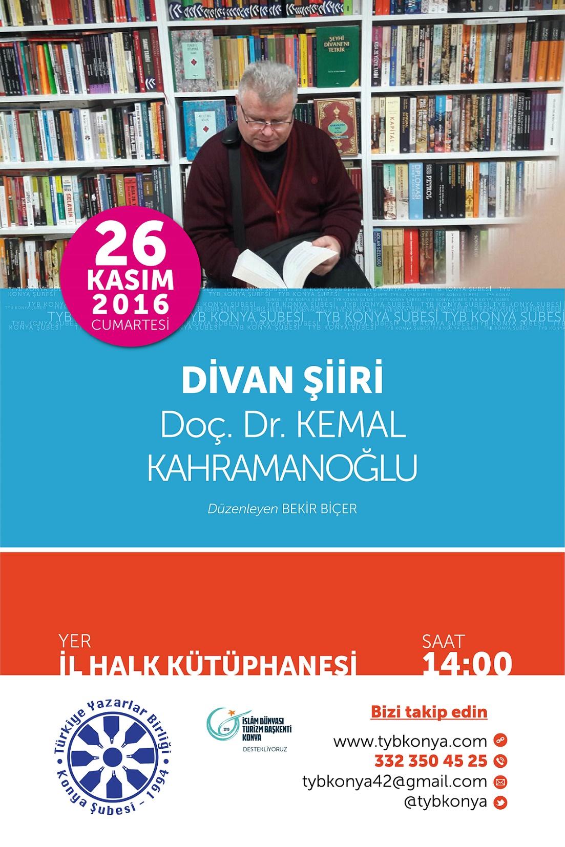 Konya'da Kemal Kahramanoğlu ile Divan Şiiri