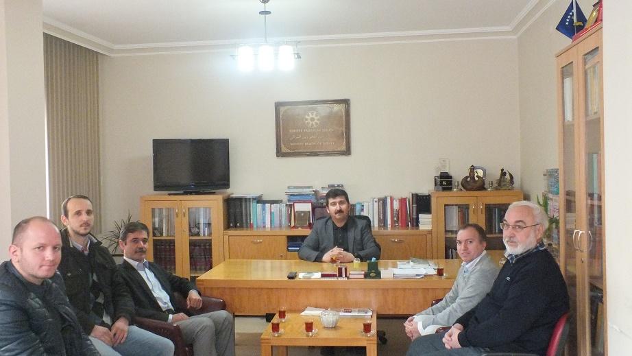 Genel Başkan Prof. Dr. Musa Kazım Arıcan'ı ziyaret