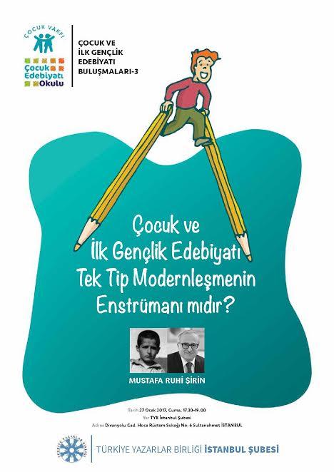 Çocuk ve İlk Gençlik Edebiyatı Buluşmaları'nın Üçüncüsü 27 Ocak'ta