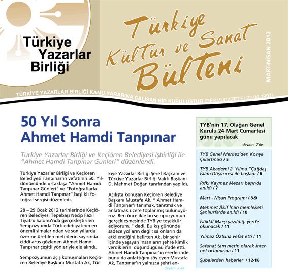 TYB 2012 Mart - Nisan Ayı Bülteni