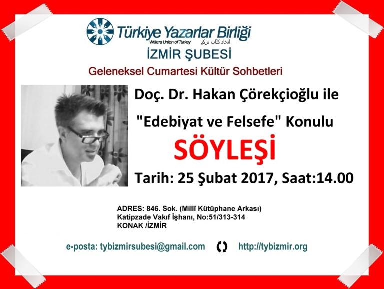 Doç. Dr. Hakan Çörekçioğlu İzmir Şubesi'nde