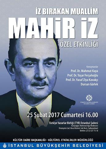 TYB İstanbul'da Mahir İz Özel Etkinliği