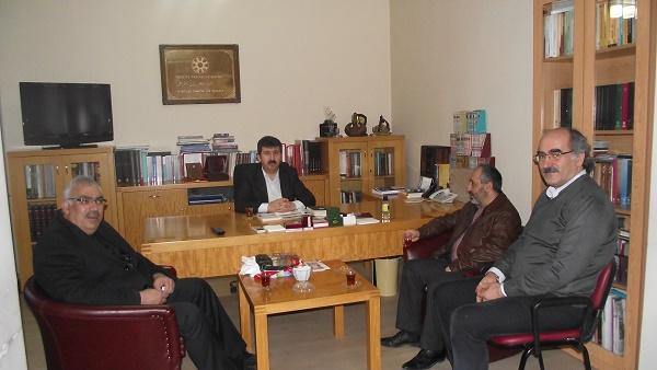 Prof. Dr. Mustafa Alıcı'dan Genel Başkan Prof. Dr. Musa Kazım Arıcan'ı ziyaret