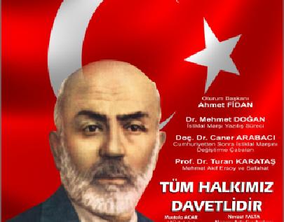 """Aksaray'da """"Mehmed Akif ve İstiklal Marşı"""" Panelle anıldı."""