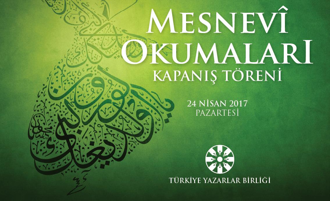 Mesnevî Okumaları Kapanış Töreni bu akşam Ankara Palas'ta