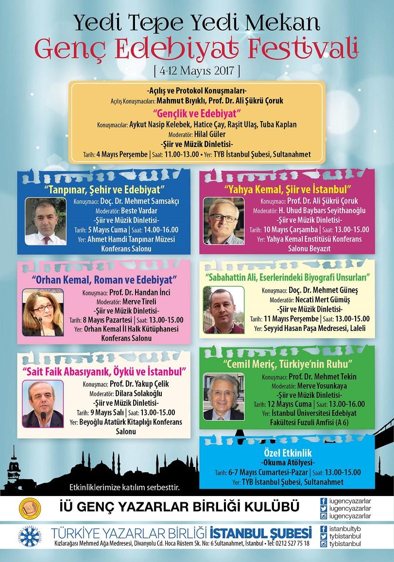 Yedi Tepe Yedi Mekan Genç Edebiyat Festivali 4 Mayıs'ta Başlıyor
