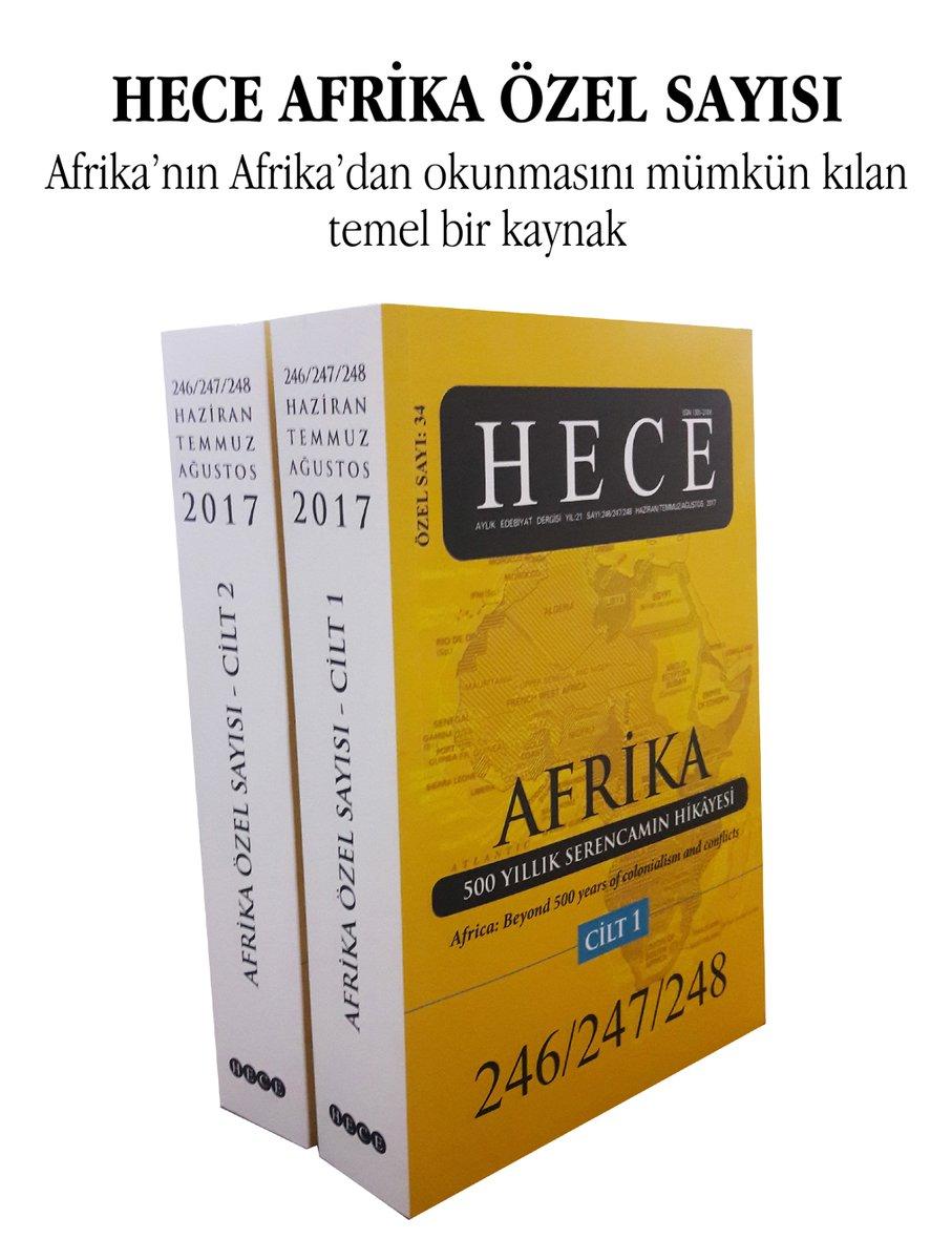 Hece Afrika Özel Sayısı çıktı
