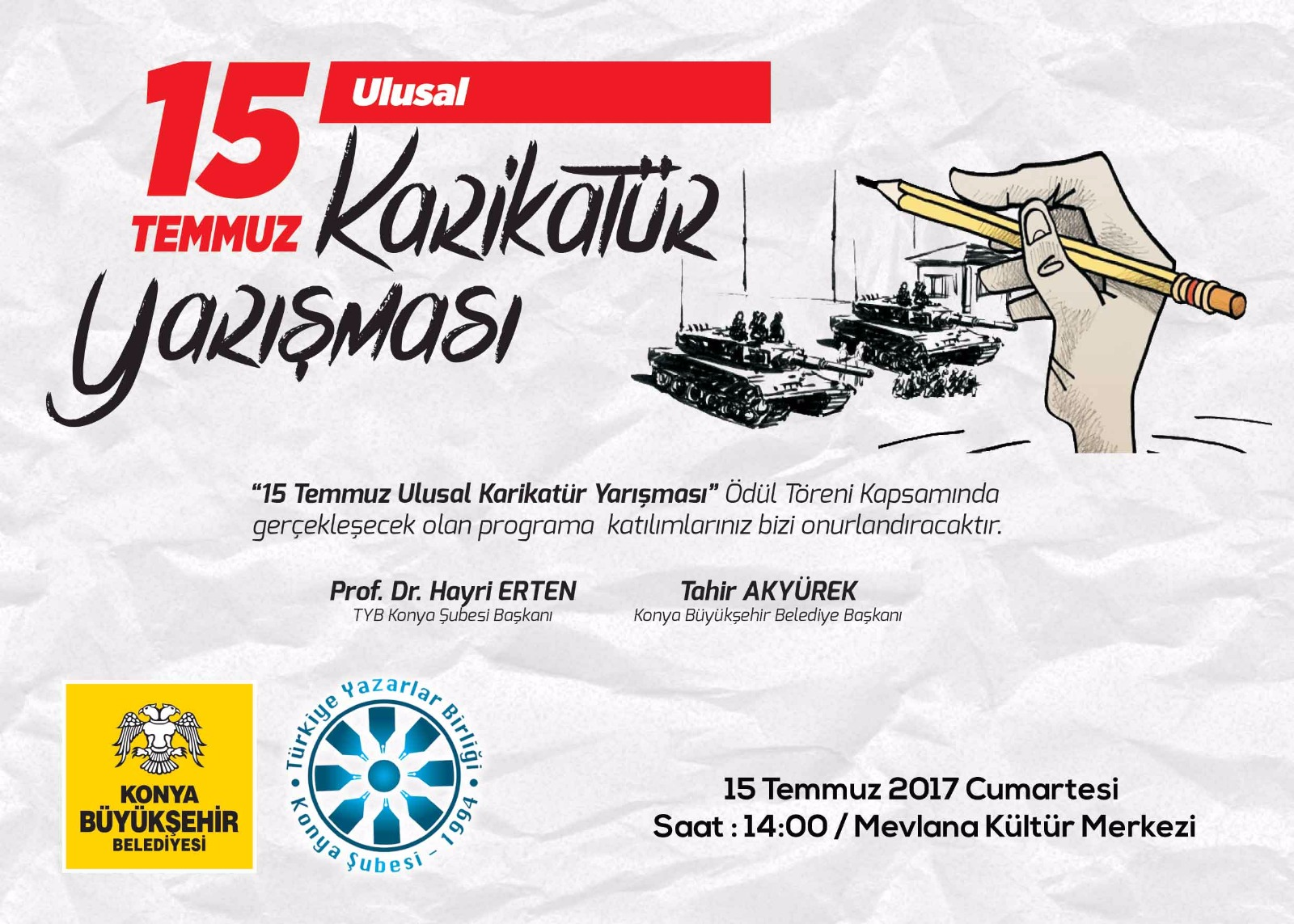 ''15 Temmuz Ulusal Karikatür Yarışması''